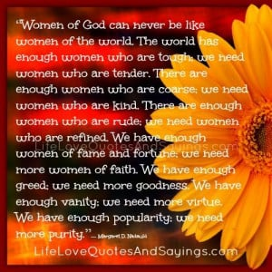 Women Of God..