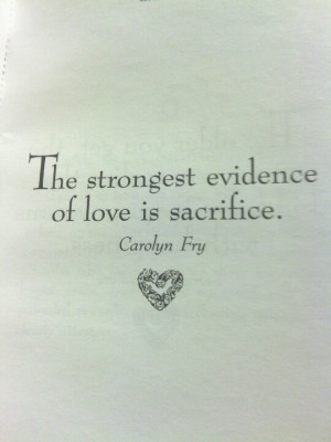 Sacrifice..would make a great tatt