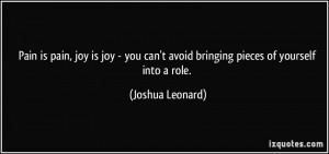 can 39 t avoid bringing pieces of yourself into a role Joshua Leonard