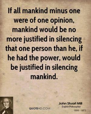John Stuart Mill Power Quotes
