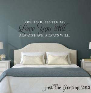 Bedroom Wall Decals, Master Bedrooms, Vinyl Wall Quotes, Bedrooms Wall ...