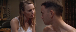 Robin Wright (Jenny Curran) and Tom Hanks (Forrest Gump) in Forrest ...