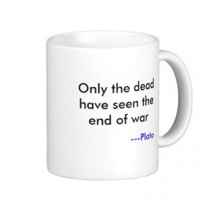 Quote from George Santayana misattributed to Plato, on a coffee mug ...