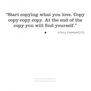 WORDS ON DESIGN _ yohji yamamoto
