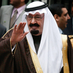 ... mark of respect to King Abdullah of Saudi Arabia who died on Friday