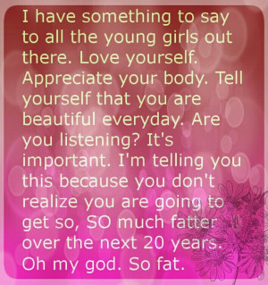 Funny quote saying body