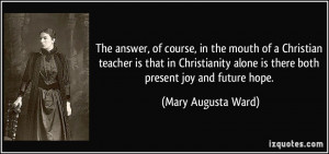 More Mary Augusta Ward Quotes