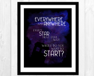 Doctor Who Quotes David Tennant Library Doctor who quote print,
