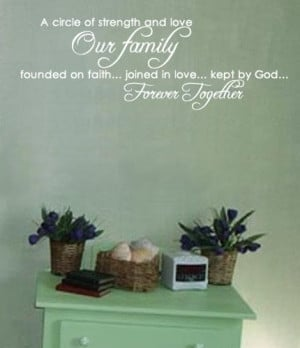 Wall Decal Family Religious Inspirational Quote Christian Vinyl ...