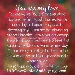 you are my love you are my life you are my everything you are the ...