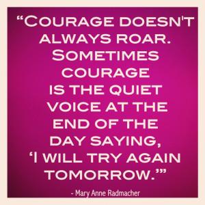 Courage Always Roar - Download Beautiful Hd Courage Inspirational ...