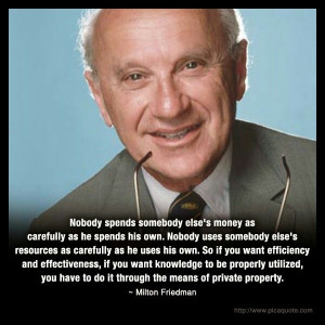 Milton Friedman & private property