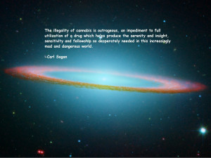 text quotes marijuana Carl Sagan sombrero galaxy wallpaper background