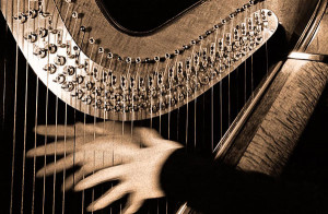 ... numerous electric piano sounds and even an ambitious harp solo