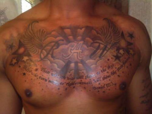 Gorgeous Chest Piece with a Quote