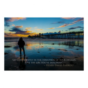 inspirational_sunset_in_oceanside_thoreau_quote_poster ...