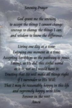 Prayer Quotes For The Sick Serenity prayer, my favorite