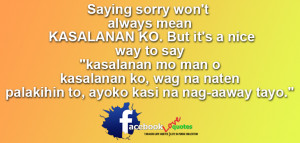 Saying Sorry Tagalog Sorry Quotes
