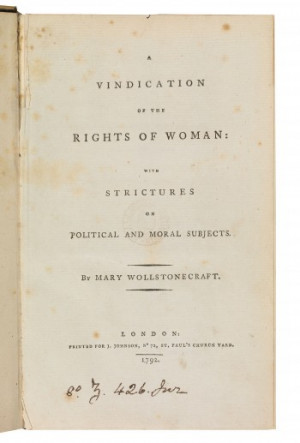 Mary Wollstonecraft, Rights of Woman
