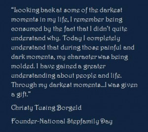 National Stepfamily Day- Quote on Life
