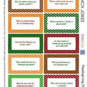 Printable Thanksgiving Joke Cards {Thanksgiving Quotes}