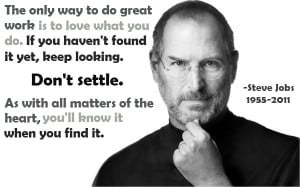 Steve Jobs Picture Quote. Great Work - mlquotes