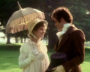 Elizabeth-Bennet-and-Mr-Darcy-played-by-Elizabeth-Garvie-and-David ...