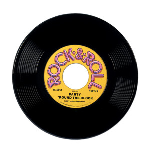 Rock and Roll 50s Plastic Novelty Record 47cm Party Decoration