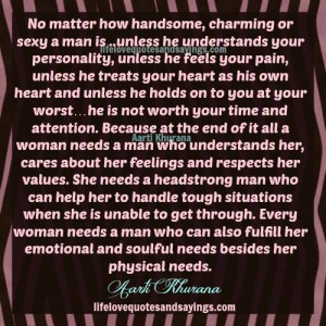 Every Man Needs A Woman Quotes