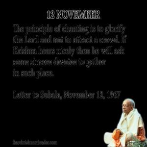 Srila Prabhupada Quotes For Month November 11