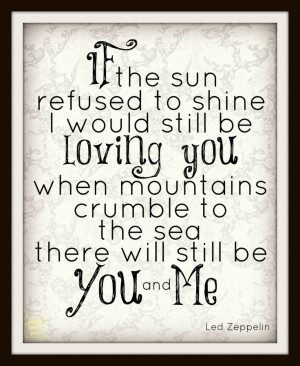 Led Zeppelin Thank You lyric Art Quote 11x14 by paperlovespen, $21.00