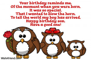 Happy Birthday To My Son Sayings Happy birthday son,