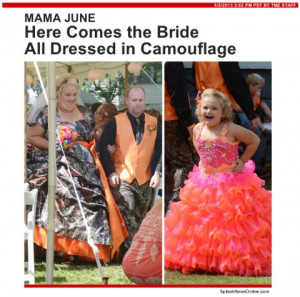 Mama June Marries Sugar Bear In Camouflage Wedding Dress — Here's ...