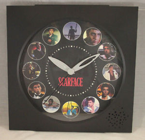 Talking-Scarface-Tony-Montana-Wall-Clock-Movie-Quotes-11-x11