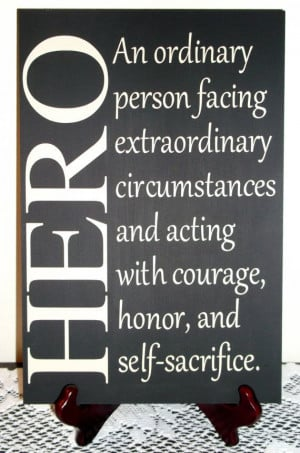 Hero Sign Great for military firefighter by AFWifeCreations, $20.00