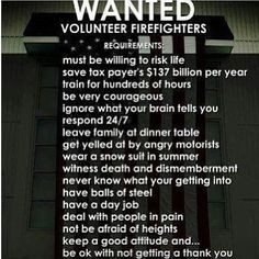 Wanted : Volunteer firefighters ~ So so SO very proud of my amazing ...