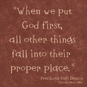 Keep God First And Everything Else Will Follow.