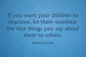 Great quote from Haim Ginott
