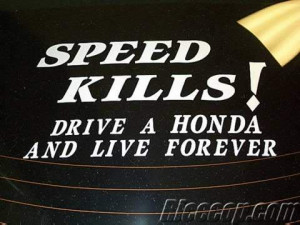 Thread: Funny honda diss stickers