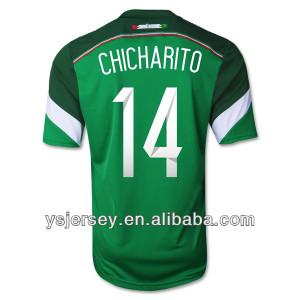 camiseta de fútbol uniforme 14 chicharito 2014 méxico temporada casa ...