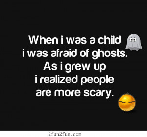 Ghosts and people