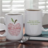Buy this Personalized Teacher Quote Mug