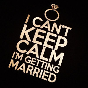 Black I Can't Keep Calm I'm Getting Married Top | Shop by Icon