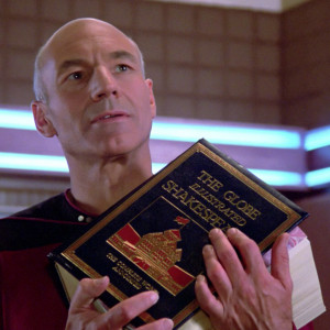 Picard's copy of The Globe Illustrated Shakespeare: The Complete Works