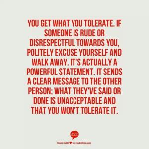 We teach people how to treat us