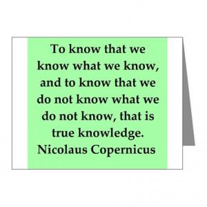 Nicolas Copernicus quotes Note Cards (Pk of 10)