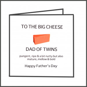 Father of Twins Father\'s Day Card, from www.twinsgiftcompany.co.uk