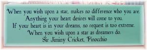 jiminy cricket quotes wish upon a star