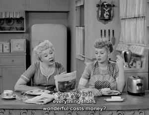 wonderful money i love lucy
