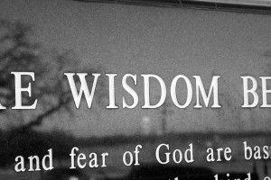 the fear of the lord is the beginning of wisdom and knowledge of the ...